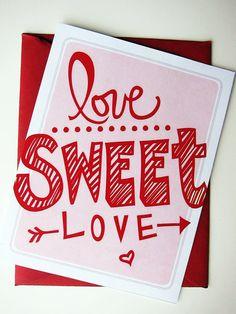 Love Sweet Love Printables