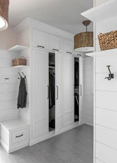 MUDROOM IDEAS – The mudroom is a very crucial part of your house. Mudroom allows you to keep your entire home clean and tidy. Mud room or you can call it a Mudroom Cabinets, Mudroom Laundry Room, Laundry Room Design, Mud Room Lockers, Mud Room In Garage, Tall Cabinets, Built In Cabinets, Cupboards, Kitchen Design