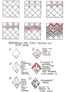 How to draw LANIE « TanglePatterns.com - Pinned with Pin Anything from pin4ever.com