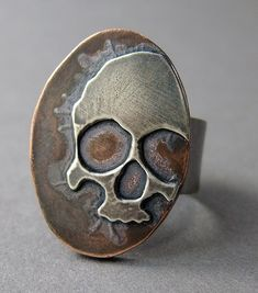 24 gauge silver on 14 gauge copper.   by MetalRiot Thomasin Durgin