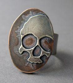 24 gauge silver on 14 gauge copper.   by MetalRiot Thomasin Durgin