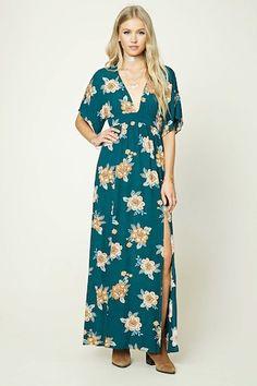 Floral Print M-Slit Dress