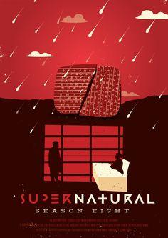 Supernatural (2005–) Season 8 ~ Minimal TV Series Poster by Risa Rodil #amusementphile