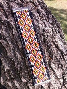 Bead Loom Bracelet Ideas | Diamond pattern bead loom bracelet