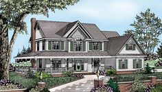 House Plan 96829 | Country Farmhouse Plan with 2198 Sq. Ft., 4 Bedrooms, 3 Bathrooms, 2 Car Garage at family home plans