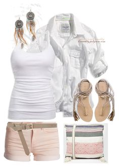Cherokee Marie by casuality on Polyvore featuring polyvore fashion style American Eagle Outfitters Pieces L*Space Star Mela Maison Boinet clothing