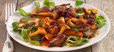 gesunde Rezepte Salate kalorienarm Kürbissalat mit Pilzen