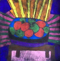 Matisse-Inspired Tempera Resist- Gr.9