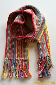 made by Mriek: Drops moss stitch sjaal