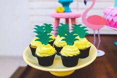 Pineapple cupcakes from a Tropical Flamingo Birthday Party on Kara's Party Ideas | KarasPartyIdeas.com (20)