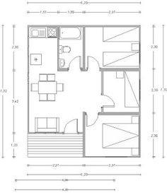 Bungalows 46 m2 para disfrutar como refugio en la cordillera Tres habitaciones, cuarto de baño, cocina americana, salón comedor y porche. ...