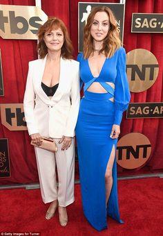 Susan Sarandon and her daughter Eva Amurri (in Gabriela Cadena) at SAG Awards