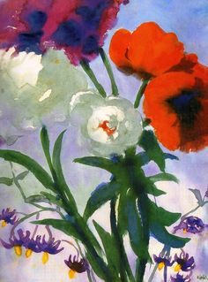 Emil Nolde, Summer Flowers, c.1930, Watercolour on Paper, 45 x 33cm, Thyssen-Bornemisza Museum