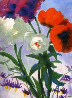 Emil Nolde, Summer Flowers, c.1930, Watercolour on Paper, 45 x 33cm, Thyssen-Bornemisza Museum