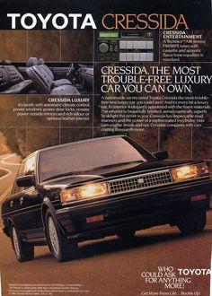 Toyota Cressida ad.