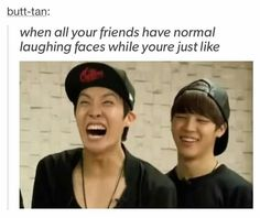 I'm jhope, jhope is me. But jimin looks like me too. Sigh when will puberty come along and knock the derpiness out of me? Already in my 20s