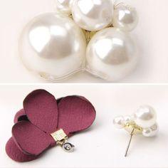 Diy Jewelry, Beaded Jewelry, Jewelery, Diy Earrings, Gold Earrings, Free Certificate Templates, Diy Flower Crown, Mixed Media Jewelry, Diy Accessories