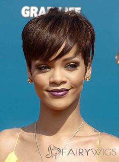 View yourself with Rihanna hairstyles and hair colors. View styling steps and see which Rihanna hairstyles suit you best. Best Human Hair Wigs, Cheap Human Hair Wigs, Real Hair Wigs, Cheap Wigs, Short Straight Hair, Short Hair Cuts For Women, Short Hairstyles For Women, Weave Hairstyles, Short Hair Styles