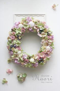 shell wreath 2014 貝殻のリース クラシカルピンクグリーン