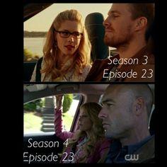 #Arrow 3x23 4x23 - #OliverQueen #FelicitySmoak #QuentinLance #DonnaSmoak Arrow Season 4, Season 3, Felicity Smoak, Fandoms, Fandom