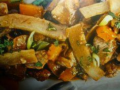 pollo con funghi e bambù - bocconcini