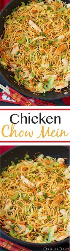 Chicken Chow Mein - this is just as good as any take out and it\'s so easy to make! My whole family loved it even my picky eaters!