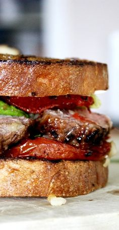 Roasted Garlic Steak Sandwich . . .