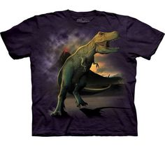 Camiseta de Tiranosaurio Rex corriendo para huir del volcán... es una verdadera chulada !!! Ref. 30315 Oferta! 18.00 € => 14.00 € IVA incluido