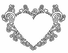 Valentine's Heart Design - Free Printable Coloring Pages