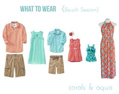 what to wear for family photo session at beach