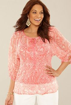 Love the pink and the paisley pattern...by Avenue