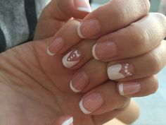 DIY wedding nails. Bride and groom