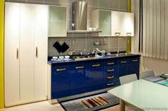 Modern Blue Kitchen Cabinets #TT37 (Kitchen-Design-Ideas.org)