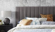 Waterfall upholstered bedhead