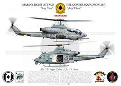 """AH-1W & UH-1Y HMLA-267 """"STINGERS"""""""