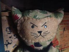 Mean Kitty He goes tinkle in your gym bag by pocomedio on Etsy, $18.00