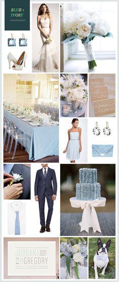 Blue & Ivory Wedding Theme
