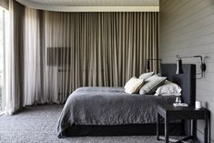 The black house. A contemporary take on a traditional farm house from Canny Architecture set on the rolling hills of Flinders on the Mornington Peninsula. Interior Exterior, Farmhouse Design, Black House, Home Bedroom, Master Bedrooms, Interiores Design, Home Renovation, Custom Homes, Contemporary