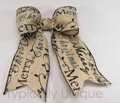 Wire edged ribbon bows 'Script' http://stores.ebay.co.uk/Typically-Unique-Flowers-and-Gifts?_rdc=1