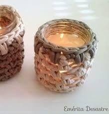 Resultado de imagen de como hacer un portavelas a crochet