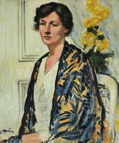 Mrs R. C. Roy by George Leslie Hunter (Scottish 1879-1931)