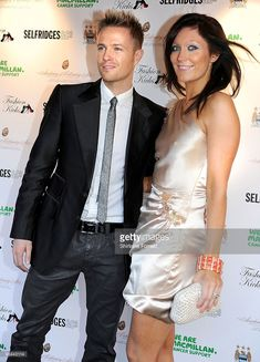 Nicky Byrne of Westlife and wife Georgina Ahern attend Fashion Kicks in aid of Macmillan Cancer Relief at Old Trafford Cricket ground on April 13, 2010 in Manchester, England.