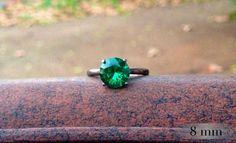Emerald Ring Bridesmaids Gifts Tiffany Set by AbishJewelryWorks, $94.53