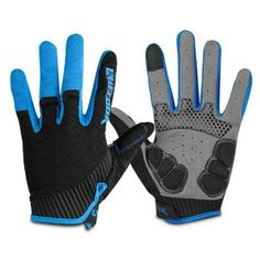 Touch Screen Cycling Gloves Full Finger Men's