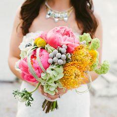Colorful Geometric Wedding: Jennifer + Anthony by Paige Newton Photography - via greenweddingshoes