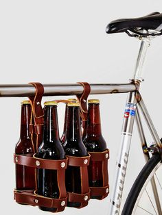 Fyxation Six-Pack Bike Caddy: Urbanites who travel by bike will appreciate this Fyxation Six-Pack Bike Caddy ($64) that will keep your beer secure while traveling from place to place.