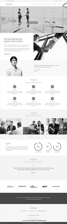 Norwood is a clean, minimalist and modern design responsive multipurpose #WordPress #template for professional #corporate website with 12 niche homepage layouts to download & live preview click on image or Visit 🡽 #webdesigns