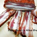 bacon de casa Romanian Food, Smoking Meat, Diy Food, Soul Food, Food To Make, Bacon, Bbq, Food And Drink, Pork