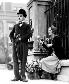 *I love Silent Movies~DB* Virginia Cherrill and Charlie Chaplin City Lights(1931)