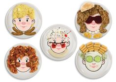 Dzieci?cy talerz z twarz? Food Face od Fredu0026Friends  sc 1 st  Pinterest & Holiday Gift Idea: Food Face Dinner Plates | Dinners Face and Food